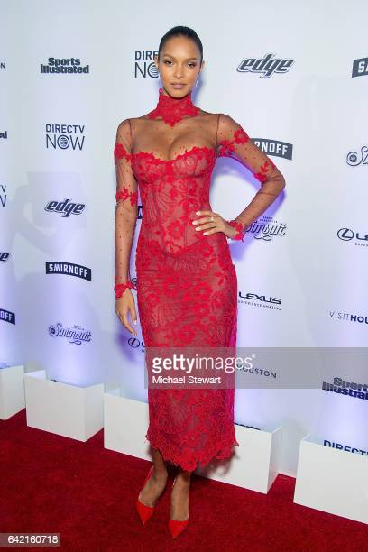 Model Lais Ribeiro attends the Sports Illustrated Swimsuit 2017 launch event at Center415 Event Space on February 16 2017 in New York City