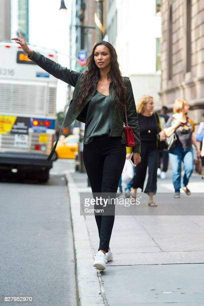 Model Lais Ribeiro is seen in Midtown on August 8 2017 in New York City