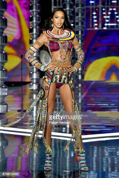 Model Lais Ribeiro walks the runway during the 2017 Victoria's Secret Fashion Show In Shanghai at MercedesBenz Arena on November 20 2017 in Shanghai...