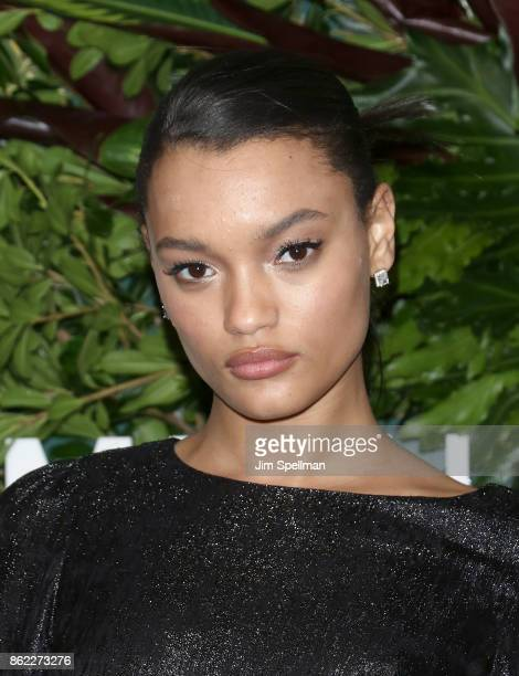 Model Lameka Fox attends the 11th Annual God's Love We Deliver Golden Heart Awards at Spring Studios on October 16 2017 in New York City