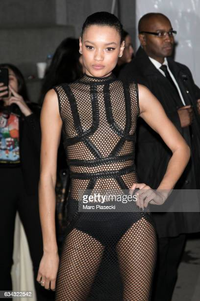 Model Lameka Fox attends the 19th Annual amfAR New York Gala at Cipriani Wall Street on February 8 2017 in New York City