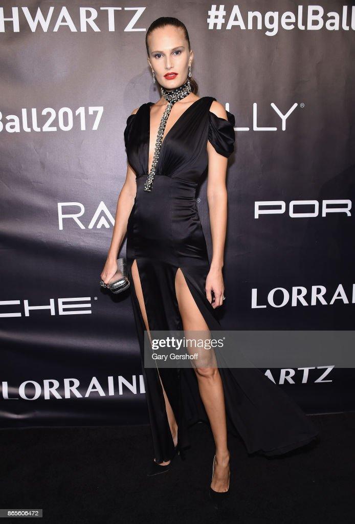 Model Lana Zakocela attends Angel Ball 2017 at Cipriani Wall Street on October 23, 2017 in New York City.