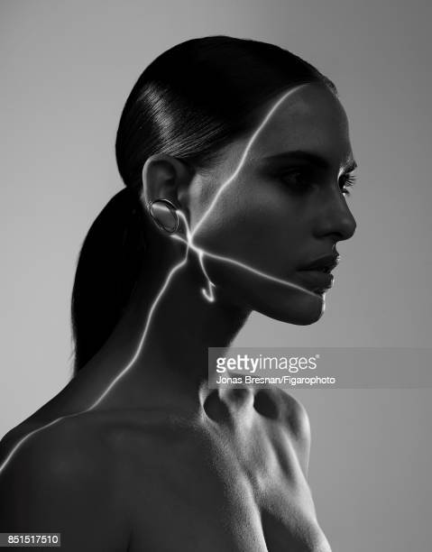 Model Lana Zakocela poses at a beauty shoot for Madame Figaro on July 12 2017 in Paris France Earring PUBLISHED IMAGE CREDIT MUST READ Jonas...