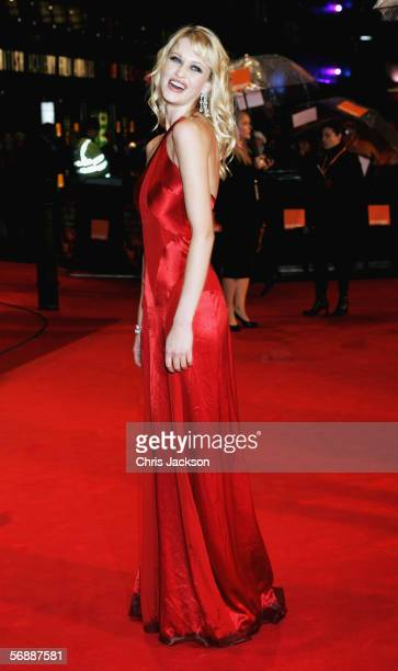 Model Landi Swanepoel arrives at The Orange British Academy Film Awards at the Odeon Leicester Square on February 19 2006 in London England