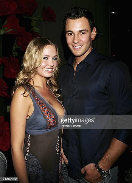Model Lara Bingle and Model Jake Wall attend the Men's Style Party at the Gazebo Wine Garden June 27 2006 in Sydney Australia