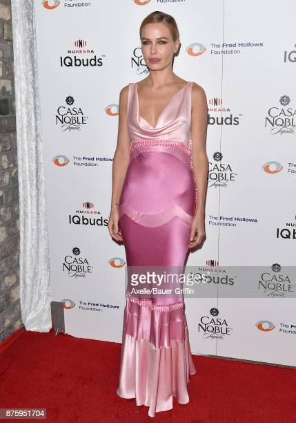 Model Lara Bingle arrives at the inaugural Los Angeles gala dinner in support of The Fred Hollows Foundation at DREAM Hollywood on November 15 2017...