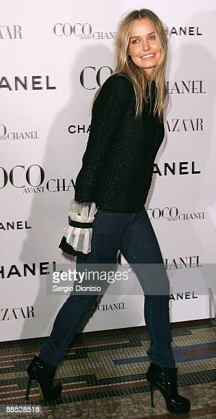 Model Lara Bingle arrives for the Australian Premiere of 'Coco Avant Chanel' at the State Theatre on June 17 2009 in Sydney Australia