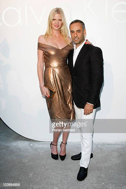 Model Lara Stone and chief designer CK woman Francisco Costa attends the 'World Of Calvin Klein' during the Mercedes Benz Fashion Week Spring/Summer...