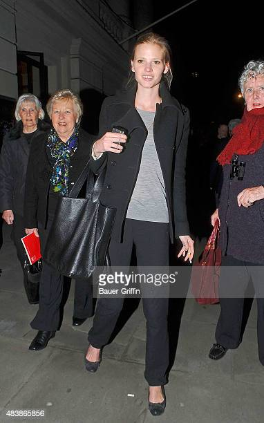 Model Lara Stone and her mother inlaw Kathleen Walliams are seen on March 09 2011 in London United Kingdom