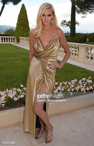 Model Lara Stone arrives at amfAR's 22nd Cinema Against AIDS Gala Presented By Bold Films And Harry Winston at Hotel du CapEdenRoc on May 21 2015 in...