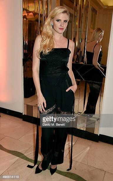 Model Lara Stone attends the Harper's Bazaar Women of the Year Awards 2015 at Claridges Hotel on November 3 2015 in London England