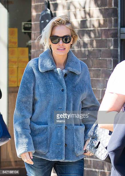 Model Lara Worthington heads to Channel 7 studio on May 13 2016 in Sydney Australia