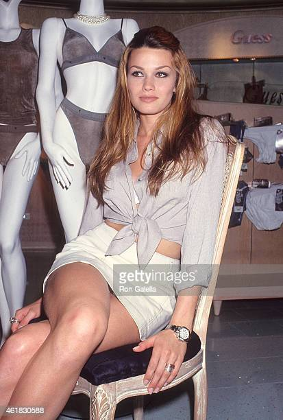 Model Larissa Bondarenko attends a meet and greet session on August 20 1994 at Dadeland Mall in Miami Florida