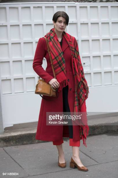 Model Larissa Hoffman wears a Chloé bag day 4 of Paris Womens Fashion Week Spring/Summer 2018 on March 1 2018 in London England