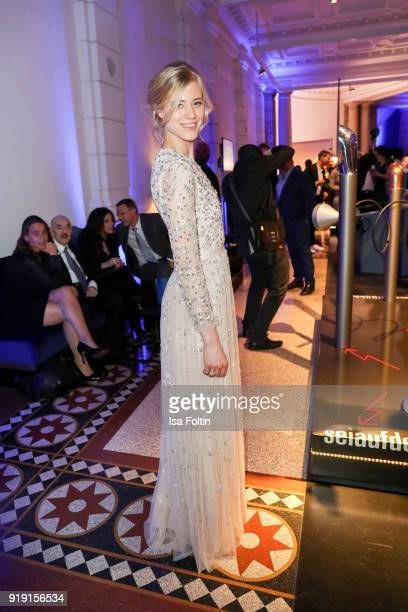 Model Larissa Marolt attends the Blue Hour Reception hosted by ARD during the 68th Berlinale International Film Festival Berlin on February 16 2018...