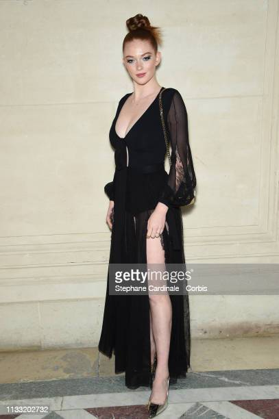 Model Larsen Thompson attends the Elie Saab show as part of the Paris Fashion Week Womenswear Fall/Winter 2019/2020 on March 02 2019 in Paris France