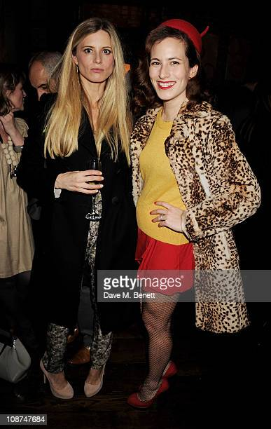 Model Laura Bailey and designer Charlotte Dellal attends the British Fashion Council/Vogue Designer Fashion Fund cocktail reception to celebrate...