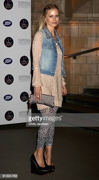 Model Laura Bailey arrives at the 30 Days of Fashion And Beauty Gala Party at the Natural History Museum on September 21 2009 in London England