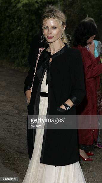 Model Laura Bailey arrives at the fundraising event 'Elephant Durbar' arranged by Londonbased charity elephant family on June 27 2006 in Richmond...
