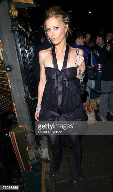 Model Laura Bailey arrives for the Finch and Partners PreBAFTA Party BY Finch and Chanel PreBAFTA Party at Annabel's Berkeley Square on February 10...