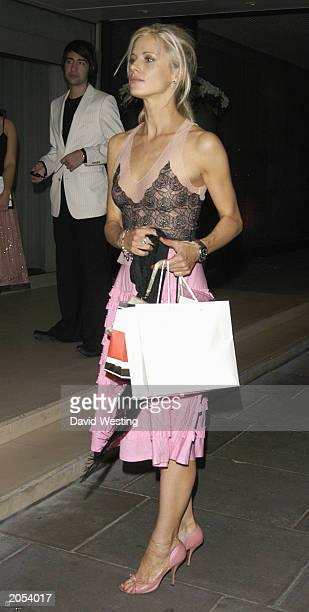 Model Laura Bailey arrives for the Sargent Cancer Care for Children Charity Event on June 3 2003 at the Sanderson Hotel in London