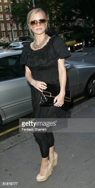 Model Laura Bailey attends a private dinner hosted by Stella McCartney at Harvey Nichols on July 3 2008 in London
