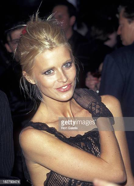 Model Laura Bailey attends Absolut Versace On Ice Party on April 9 1997 at the Cotton Club in New York City