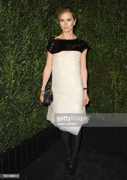 Model Laura Bailey attends the Chanel PreOscar dinner at Madeo Restaurant on February 23 2013 in Los Angeles California