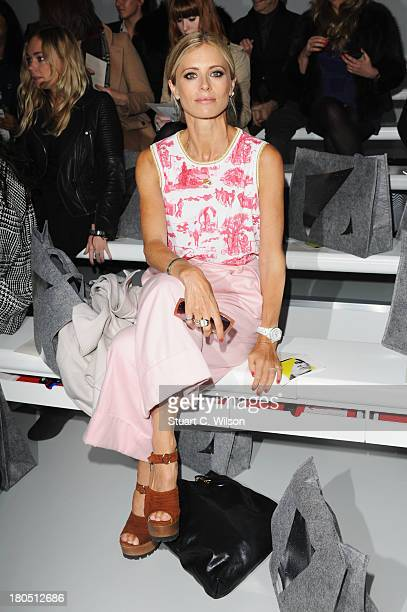Model Laura Bailey attends the Zoe Jordan show during London Fashion Week SS14 at BFC Courtyard Showspace on September 14 2013 in London England