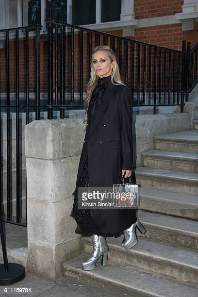 Model Laura Bailey day 3 of London Womens Fashion Week Spring/Summer 2017 on September 18 2016 in London England