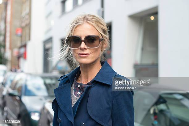 Model Laura Bailey on day 4 of London Fashion Week Spring/Summer 2013 at Somerset House on September 16 2013 in London England