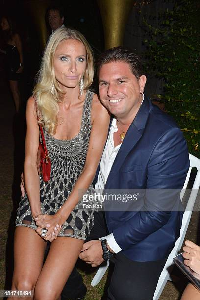 Model Laura Messia and Jeremy Urbain attend the Massimo Gargia Birthday Party at Les Moulins De Ramatuelle on August 20 2015 in SaintTropez France