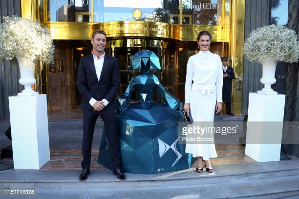 Model Laura Sanchez and David Ascanio arrive at ELLE Charity Gala 2019 to raise funds for cancer at Intercontinental Hotel on May 30, 2019 in Madrid,...
