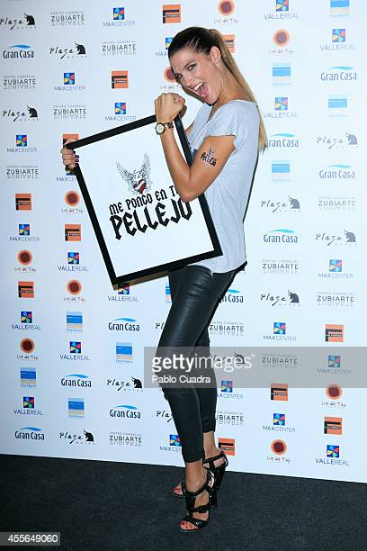 Model Laura Sanchez poses during a photocall to present 'Me Pongo En Tu Piel' on September 18 2014 in Madrid Spain
