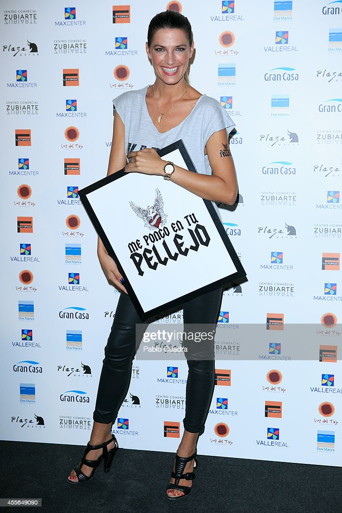 Model Laura Sanchez poses during a photocall to present 'Me Pongo En Tu Piel' on September 18, 2014 in Madrid, Spain.
