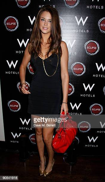 Model Lauren Budd attends the launch party for Eclipse Barcelona new bar and lounge at W Barcelona at Eclipse Chelsea held on September 9 2009 in...