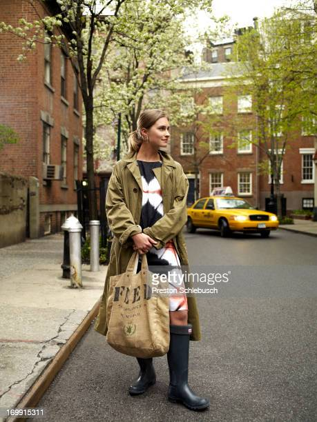 Model Lauren Bush is photographed for Conde Nast Traveler - Spain on April 21, 2009 in New York City. PUBLISHED IMAGE.
