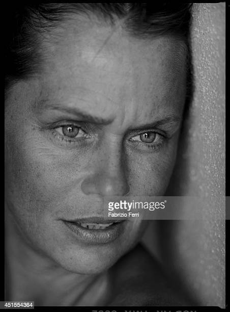 Model Lauren Hutton is photographed in October 1990 in Pantelleria Italy