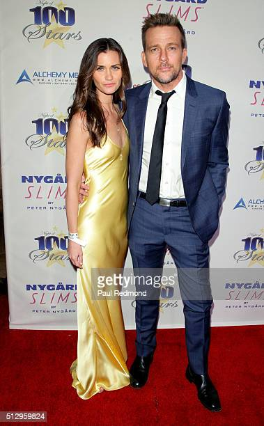 Model Lauren Michelle Hill and actor Sean Patrick Flanery arrive at Norby Walters' 26th Annual Night Of 100 Stars Oscar Viewing at The Beverly Hilton...