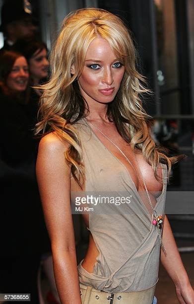 Model Lauren Pope arrives at the UK Premiere of 'Rollin' With The Nines' at the Odeon Leicester Square on April 19 2006 in London England