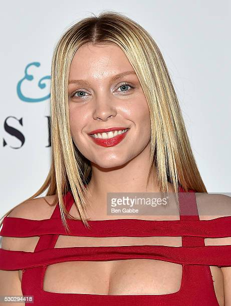 Model Leah Kelley attends the Love Friendship New York Screening at Landmark Sunshine Cinema on May 10 2016 in New York City