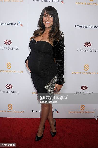 Model Leeann Tweeden arrives at the CedarsSinai Sports Spectacular at the Hyatt Regency Century Plaza on May 31 2015 in Century City California