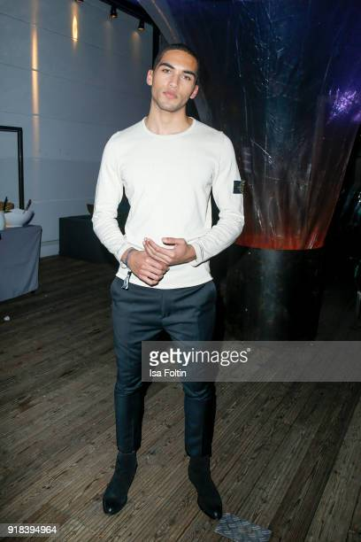 Model Leeroy M Aiyanyo attends the Young ICONs Award in cooperation with ICONIST at SpindlerKlatt on February 14 2018 in Berlin Germany
