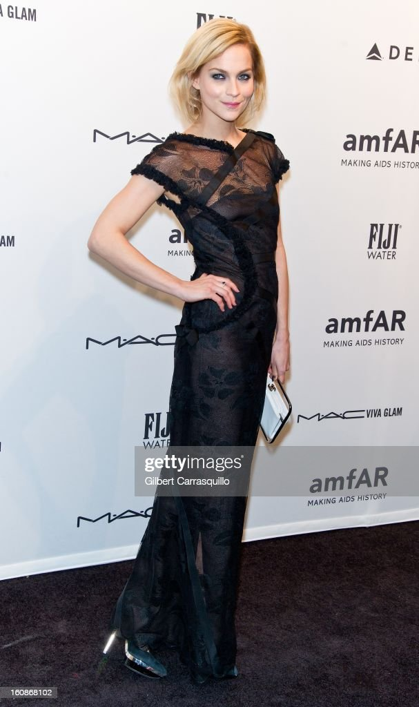 Model Leigh Lezark attends amfAR New York Gala To Kick Off Fall 2013 Fashion Week at Cipriani, Wall Street on February 6, 2013 in New York City.