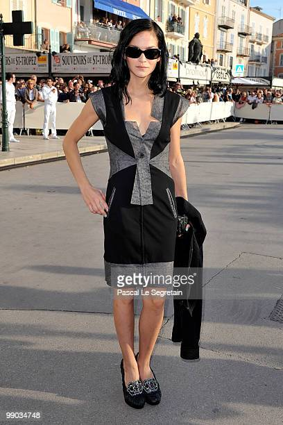 Model Leigh Lezark attends the Chanel Cruise Collection Presentation on May 11 2010 in SaintTropez France