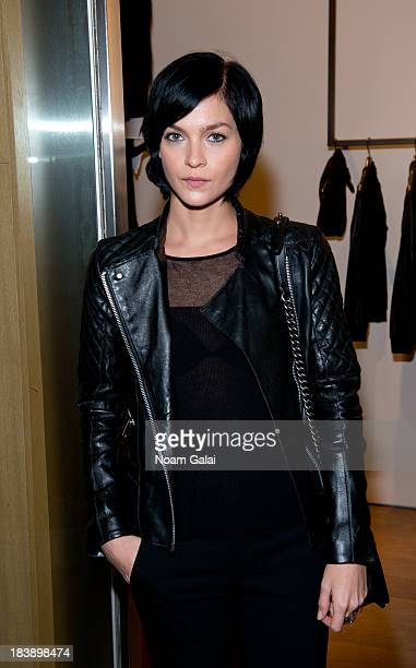Model Leigh Lezark attends the grand opening of Vince Flagship Store on October 9 2013 in New York City