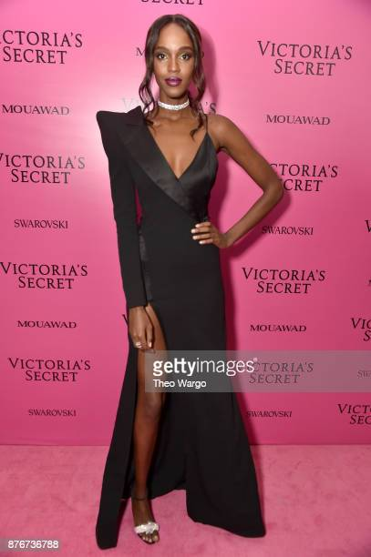 Model Leila Nda attends the 2017 Victoria's Secret Fashion Show In Shanghai After Party at MercedesBenz Arena on November 20 2017 in Shanghai China