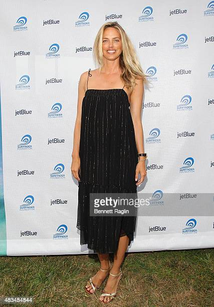 Model Leilani Bishop attends The Surfrider Foundation Two Coasts One Ocean August 8 2015 in Montauk New York