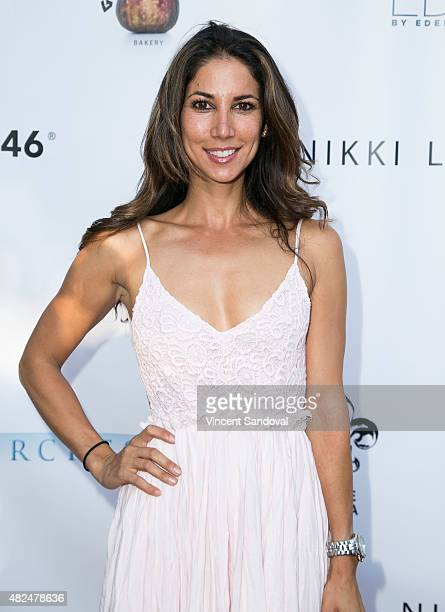 Model Leilani Dowding attends the BOO2bullying's Take A Bite Out Of Bullying launch at The LGBT Center on July 30 2015 in Hollywood California