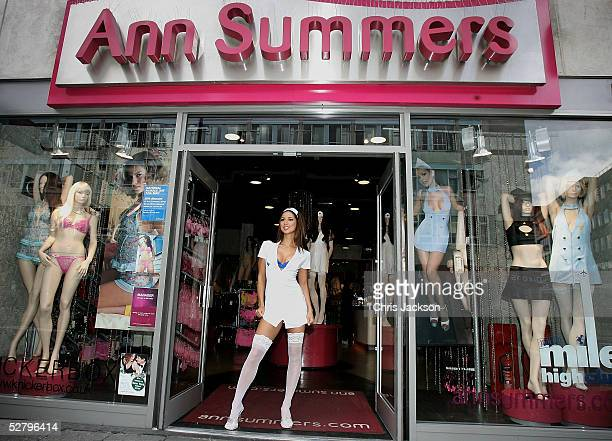 Model Leilani Dowding dresses in an Ann Summers nurses outfit to mark tomorrow's annual National Nurses Day at Ann Summers Oxford Street on May 11...